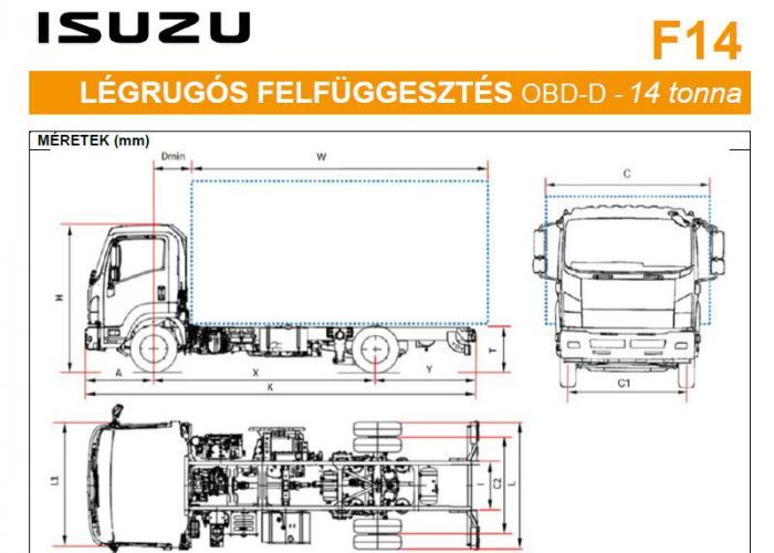Isuzu F14 Légrugós felfüggesztés