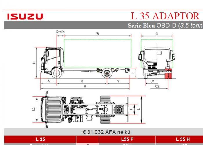 Katalógus Isuzu L35 Adaptor